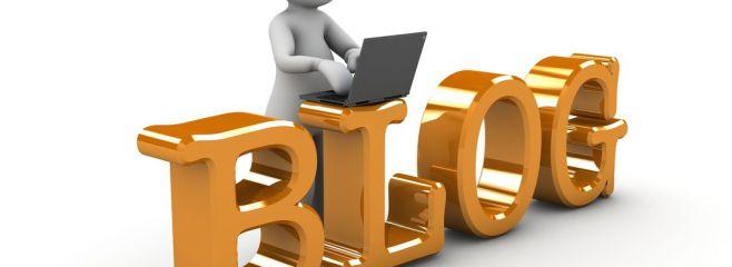 Blogger bei derArbeit